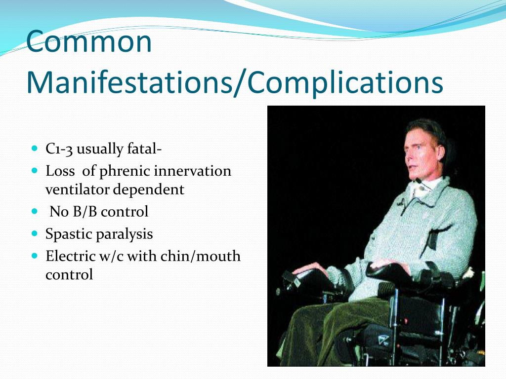 Common Manifestations/Complications
