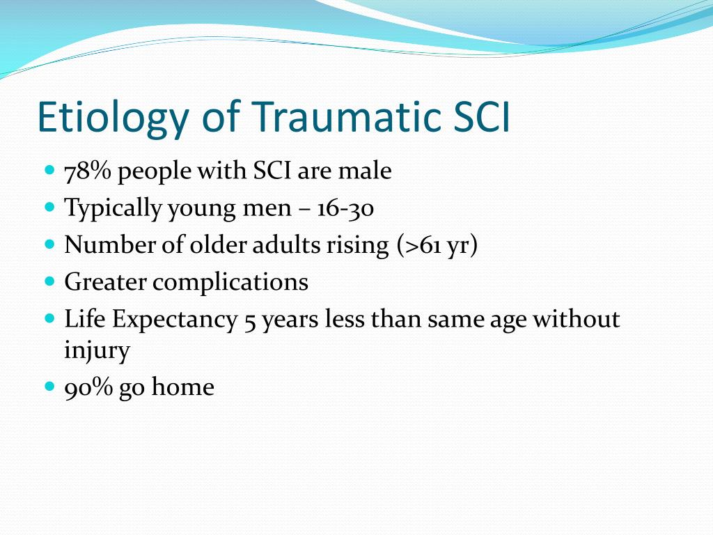 Etiology of Traumatic SCI
