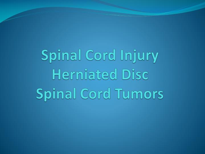 Spinal c ord injury herniated disc spinal cord tumors l.jpg