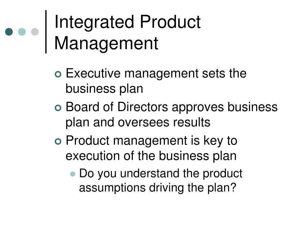 Integrated Product Management