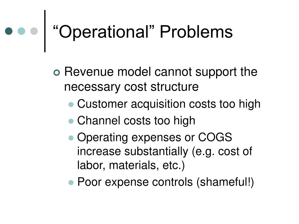 """""""Operational"""" Problems"""