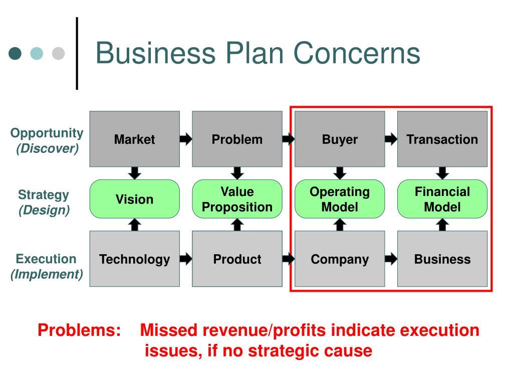 Business Plan Concerns