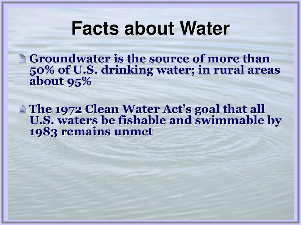 Facts about Water