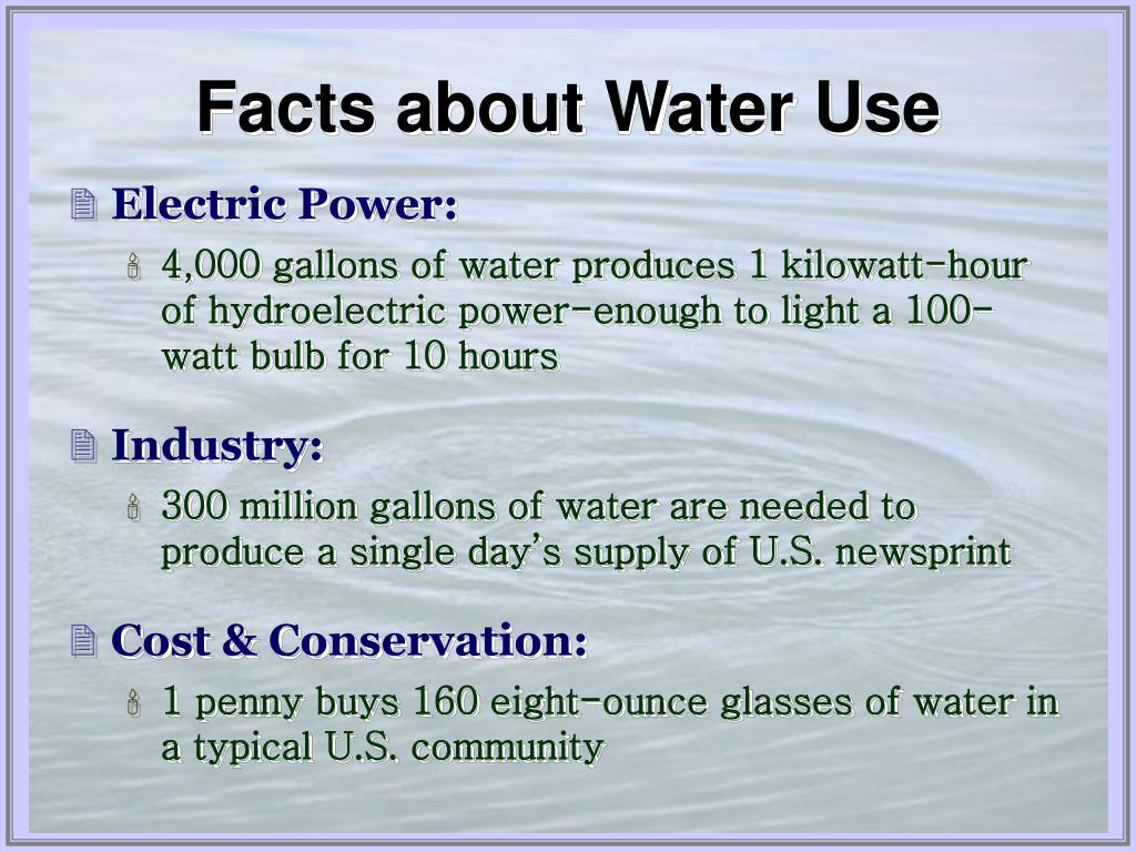 Facts about Water Use
