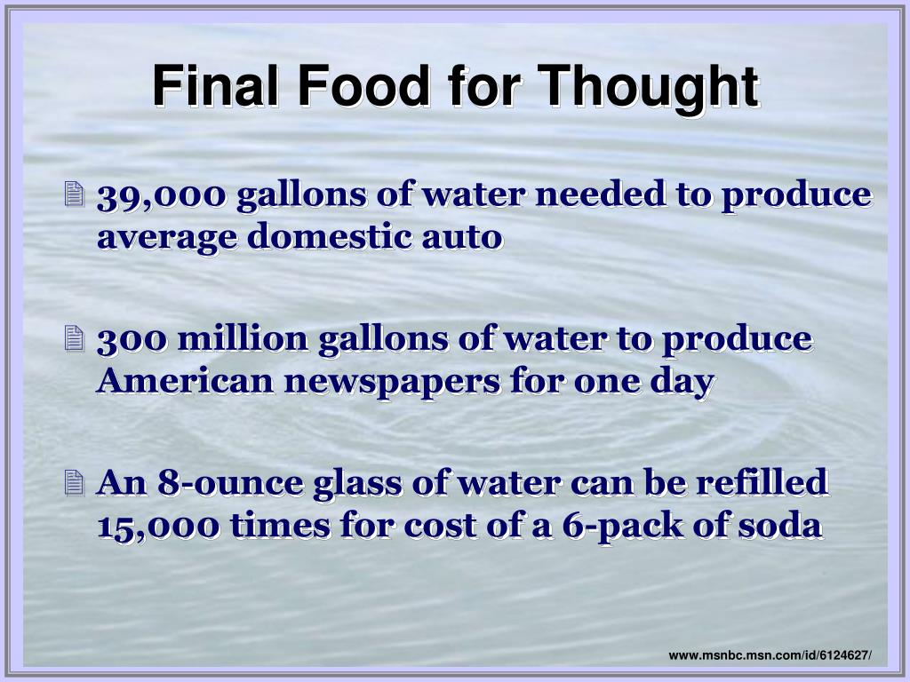 39,000 gallons of water needed to produce average domestic auto