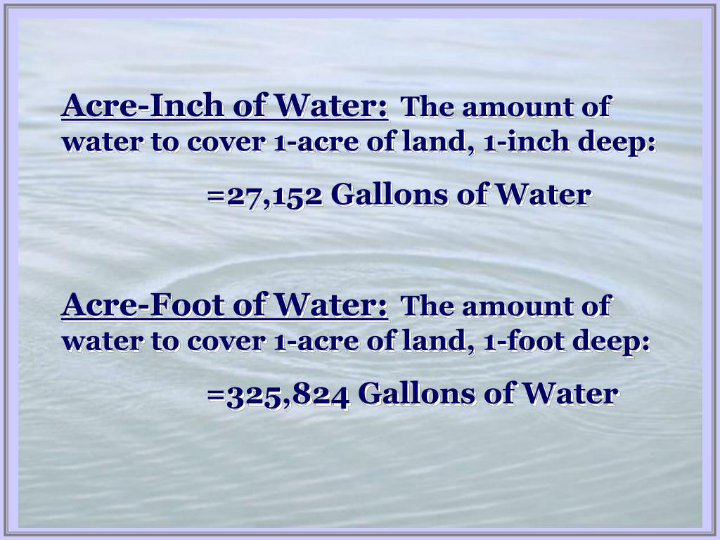 Acre-Inch of Water: