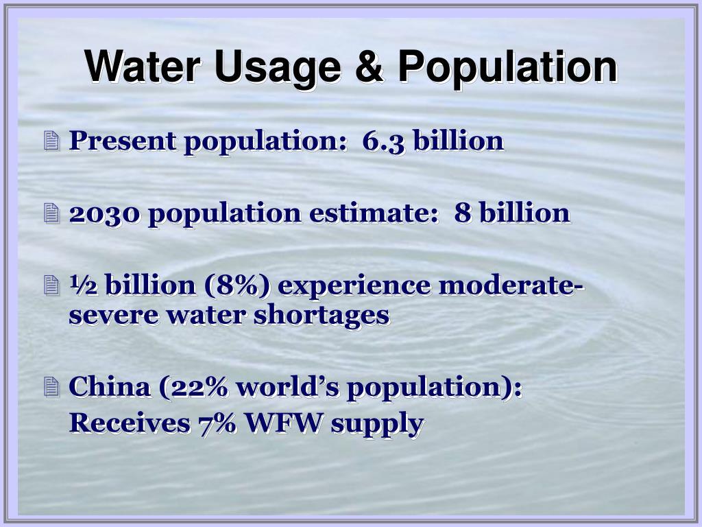 Water Usage & Population