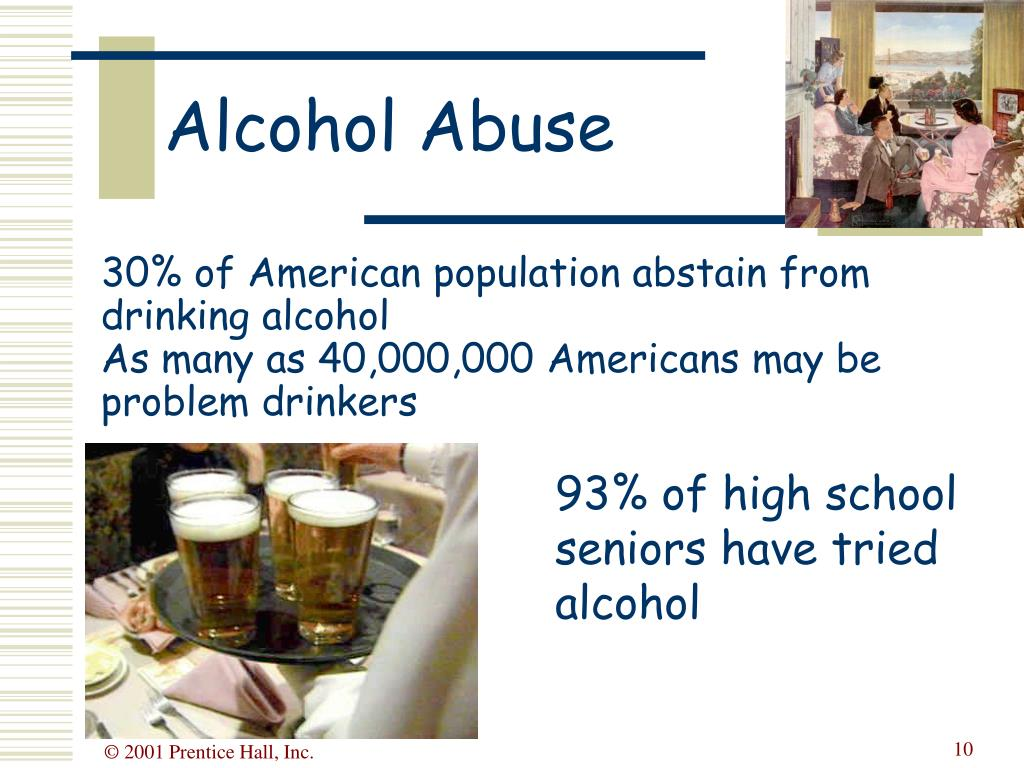 30% of American population abstain from drinking alcohol