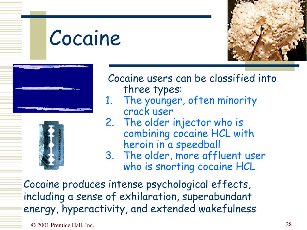 Cocaine users can be classified into three types: