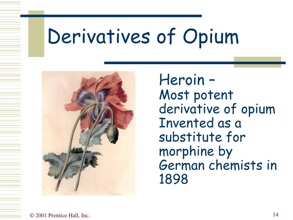 Derivatives of Opium