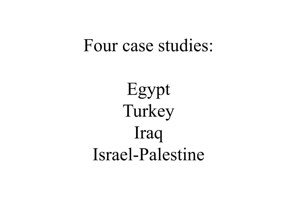 Four case studies: