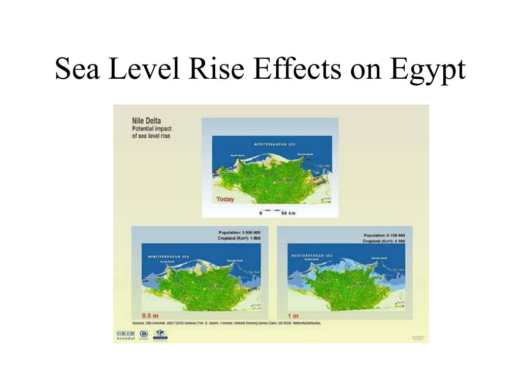 Sea Level Rise Effects on Egypt