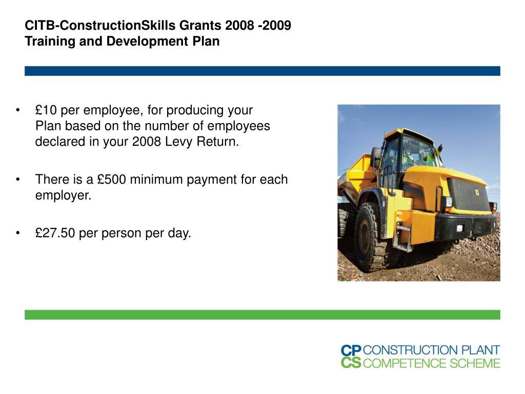 CITB-ConstructionSkills Grants 2008 -2009