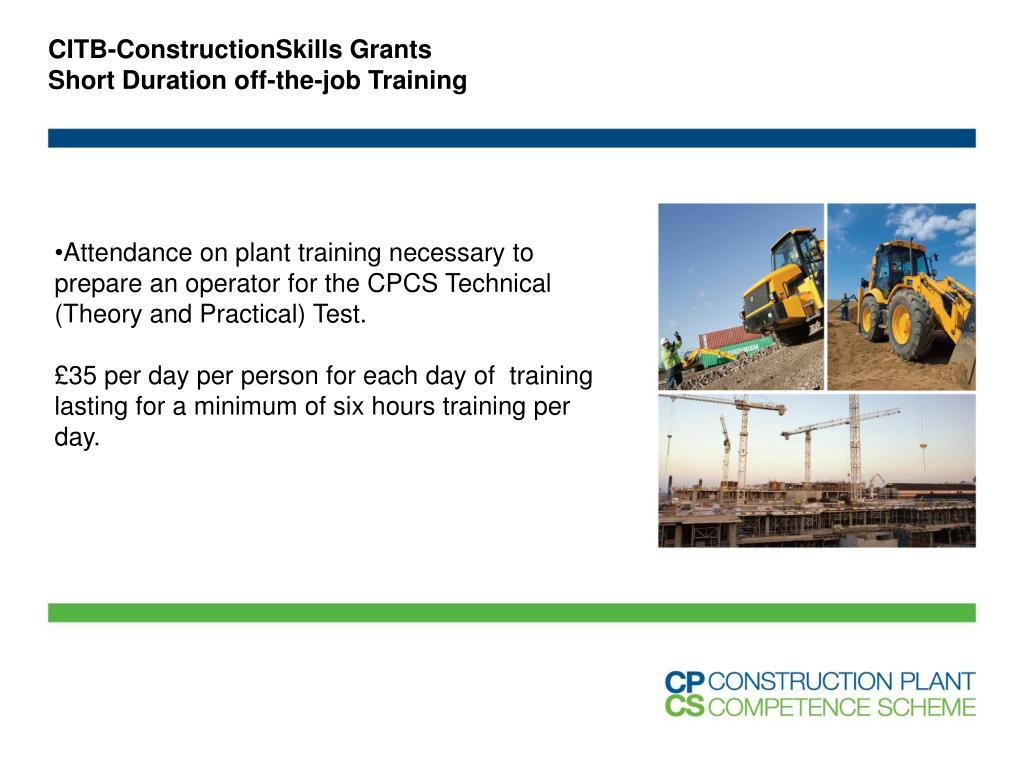 CITB-ConstructionSkills Grants