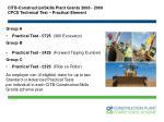 citb constructionskills plant grants 2008 2009 cpcs technical test practical element