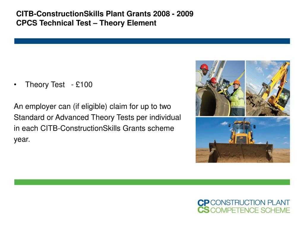 CITB-ConstructionSkills Plant Grants 2008 - 2009
