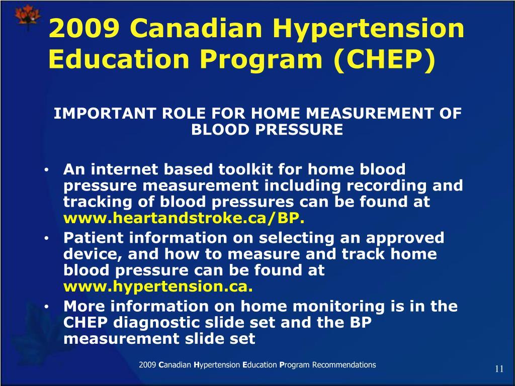2009 Canadian Hypertension Education Program (CHEP)