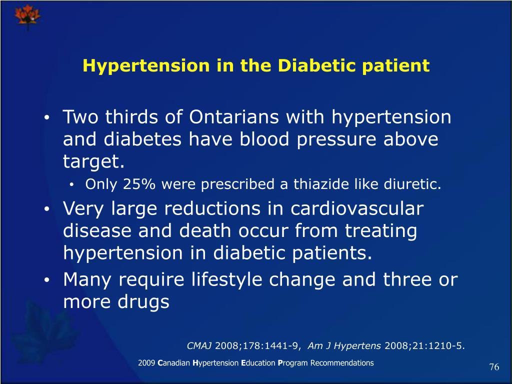 Hypertension in the Diabetic patient