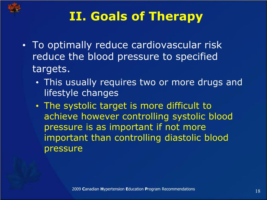 II. Goals of Therapy