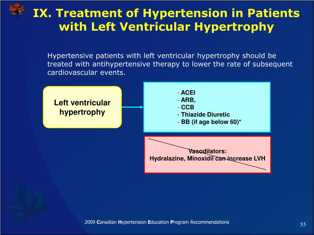 IX. Treatment of Hypertension in Patients with Left Ventricular Hypertrophy