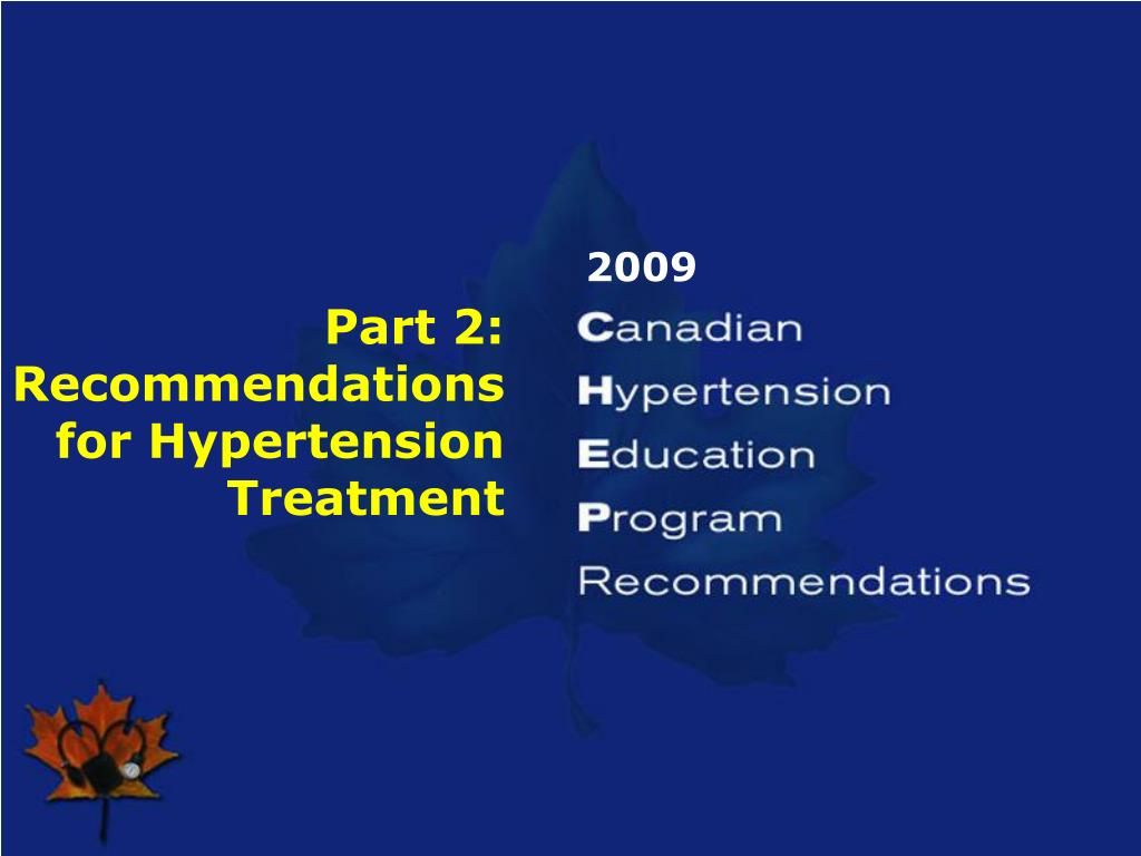 Part 2: Recommendations for Hypertension