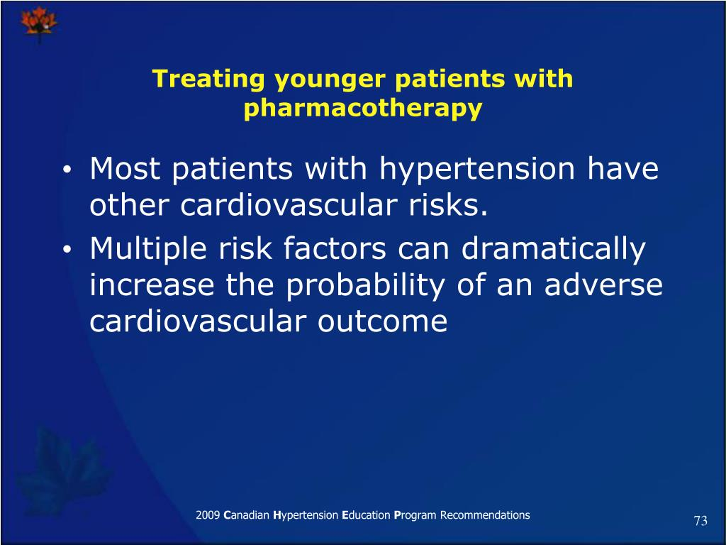 Treating younger patients with pharmacotherapy