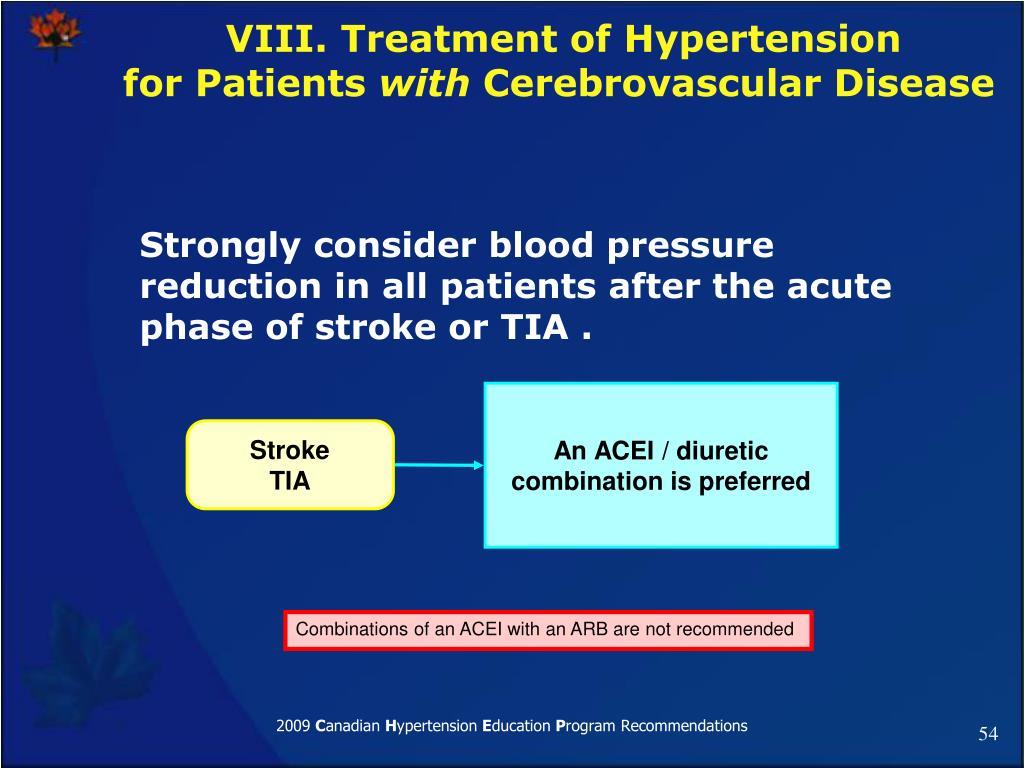 VIII. Treatment of Hypertension