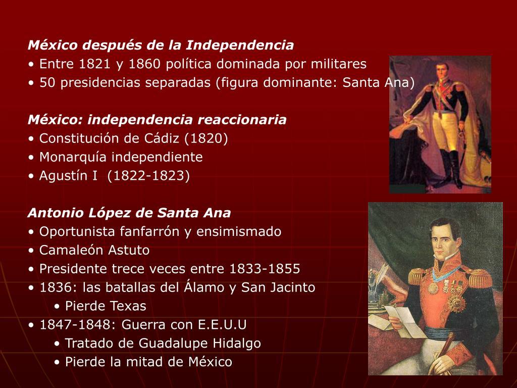 México después de la Independencia