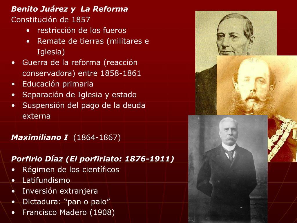 Benito Juárez y  La Reforma