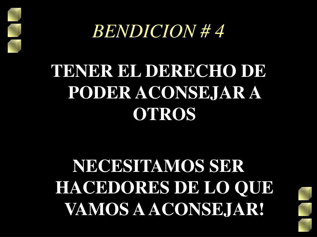 BENDICION # 4