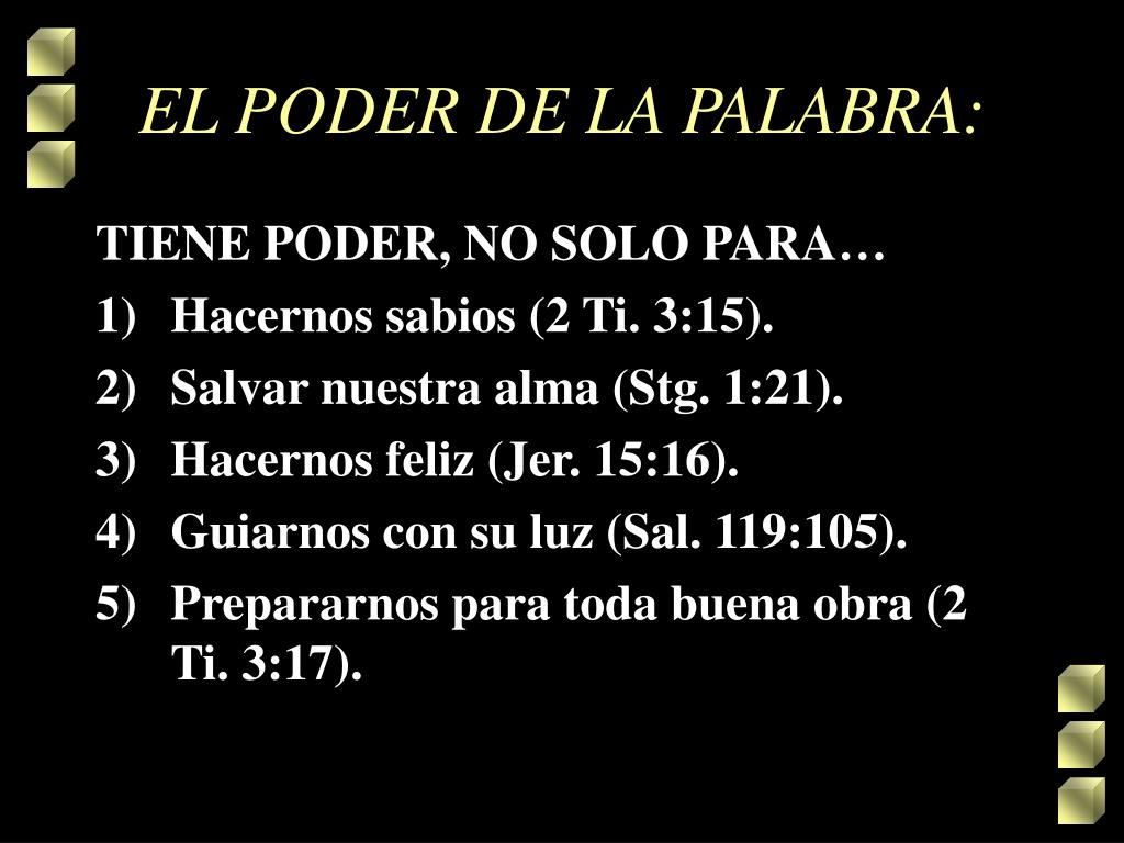 EL PODER DE LA PALABRA: