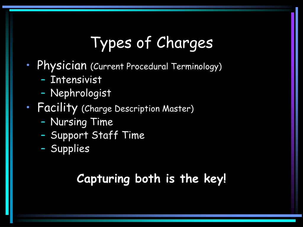 Types of Charges