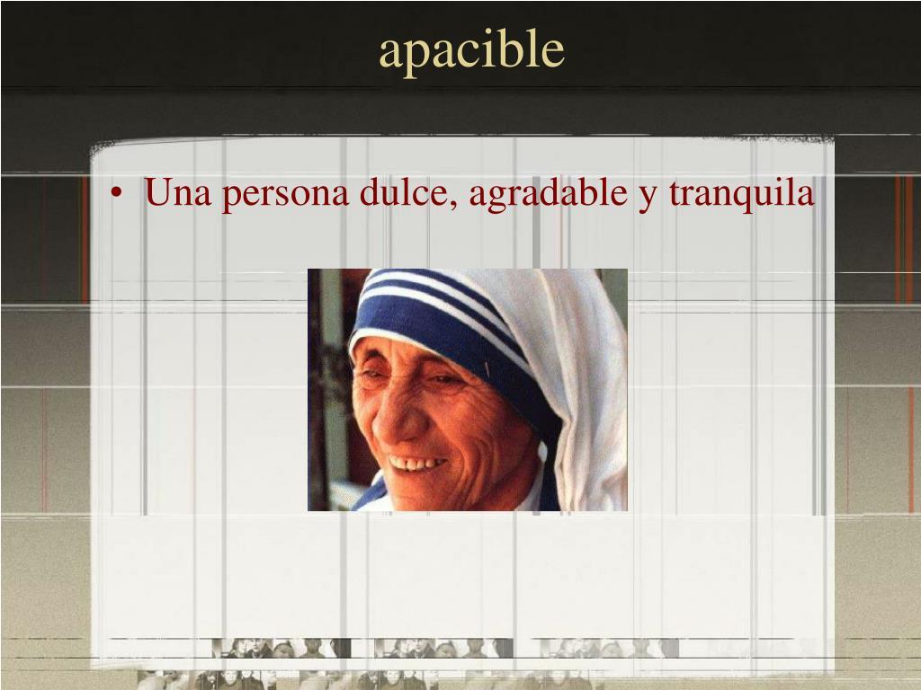 apacible