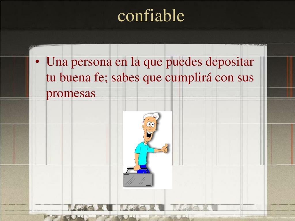 confiable