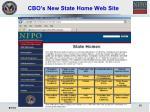 cbo s new state home web site