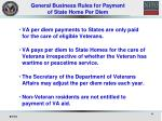 general business rules for payment of state home per diem
