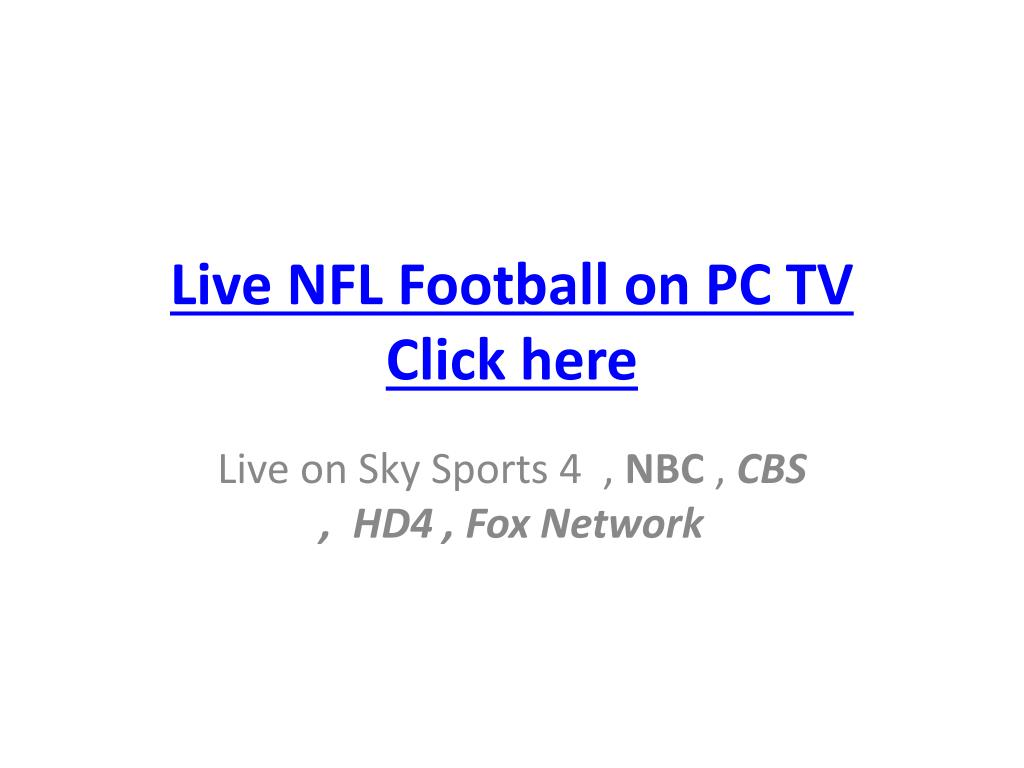 Live NFL Football on PC TV