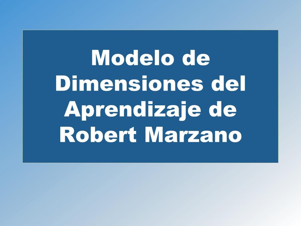 Modelo de Dimensiones del Aprendizaje de Robert Marzano