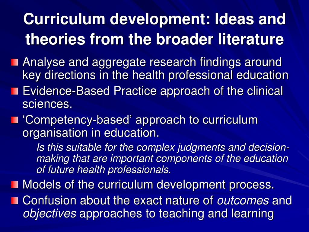 ppt - the process of curriculum development powerpoint presentation