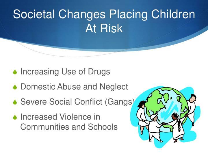 Societal Changes Placing Children At Risk
