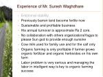 experience of mr suresh waghdhare