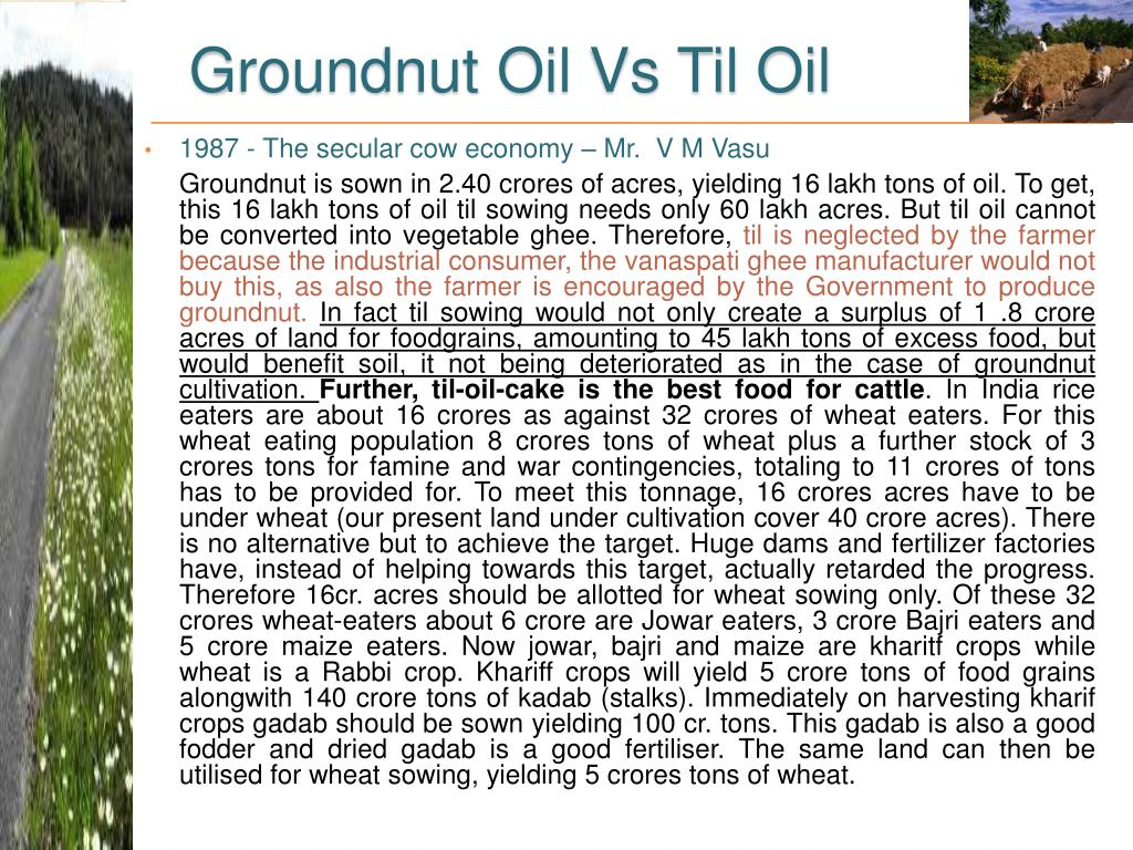 Groundnut Oil Vs Til Oil