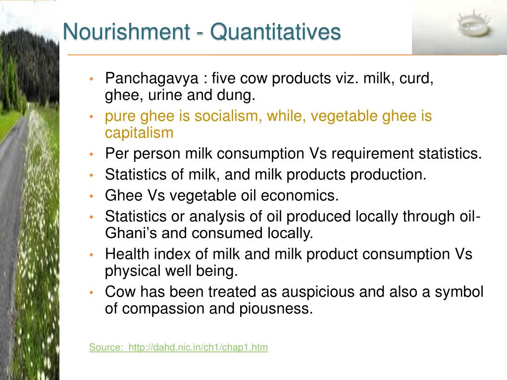Nourishment - Quantitatives