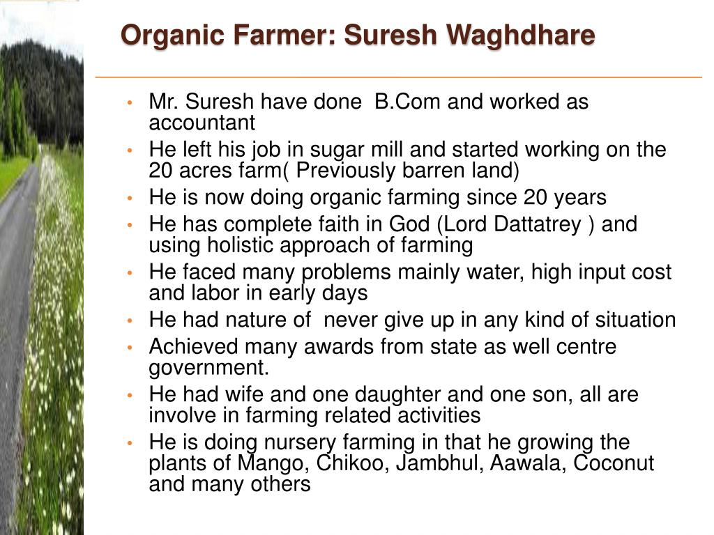 Organic Farmer: Suresh Waghdhare
