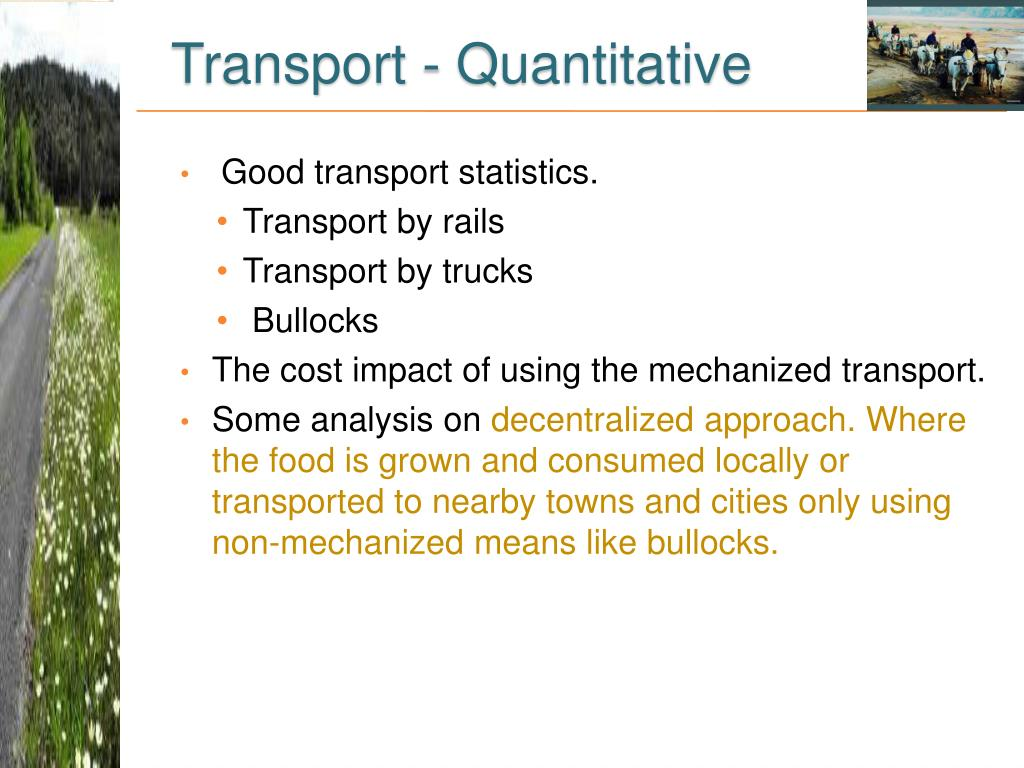 Transport - Quantitative