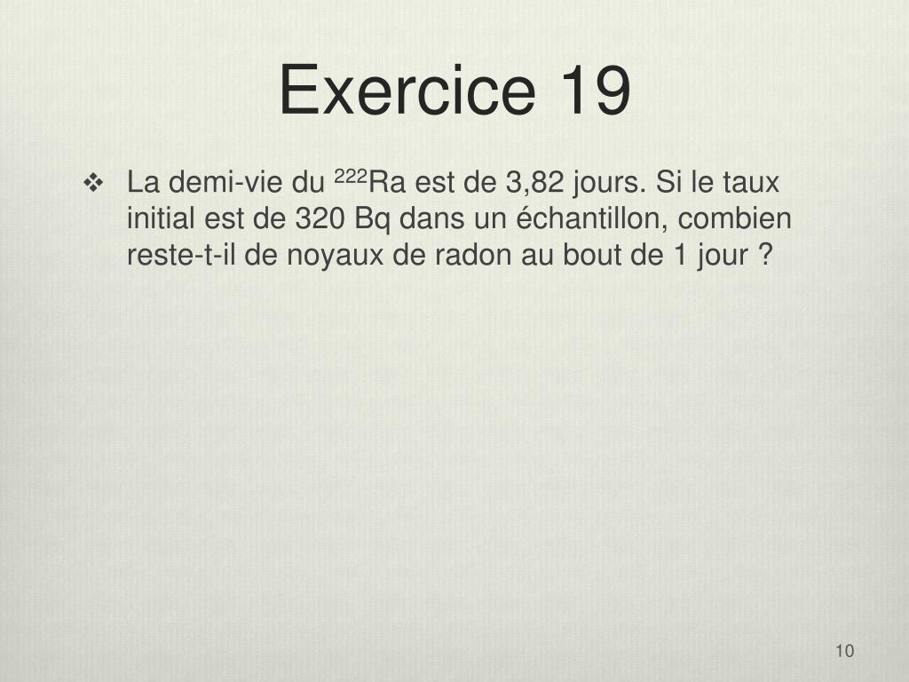 Exercice 19