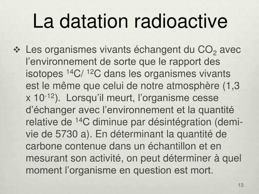 La datation radioactive