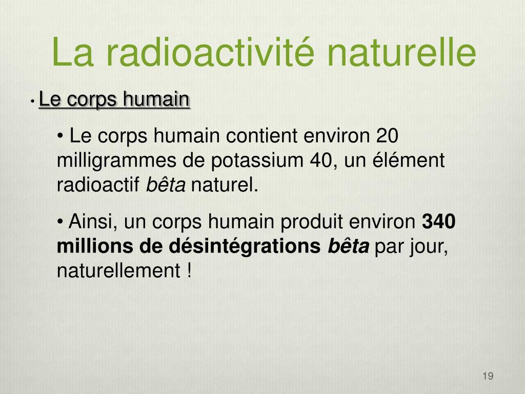 La radioactivité naturelle
