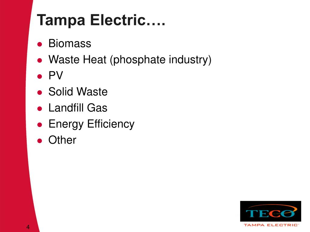 Tampa Electric….
