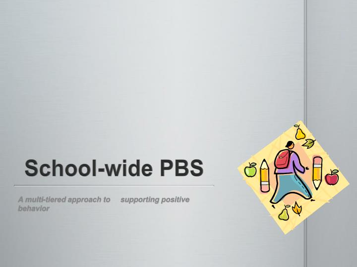 School wide pbs